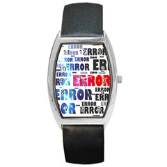 Error Crash Problem Failure Barrel Style Metal Watch