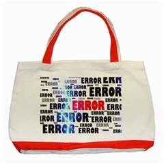 Error Crash Problem Failure Classic Tote Bag (Red)