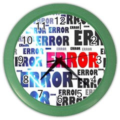 Error Crash Problem Failure Color Wall Clocks