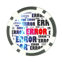 Error Crash Problem Failure Poker Chip Card Guard