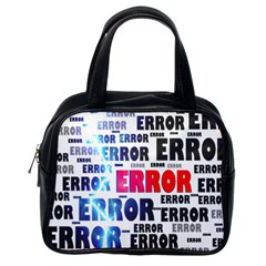 Error Crash Problem Failure Classic Handbags (One Side)