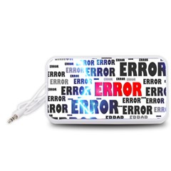 Error Crash Problem Failure Portable Speaker (white)
