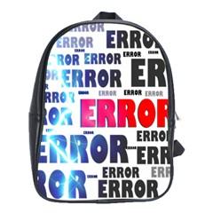 Error Crash Problem Failure School Bags (XL)