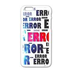 Error Crash Problem Failure Apple iPhone 6/6S White Enamel Case