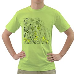 Floral Pattern Background Green T-Shirt