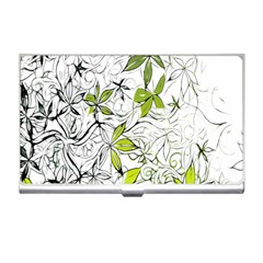 Floral Pattern Background Business Card Holders