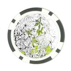 Floral Pattern Background Poker Chip Card Guard