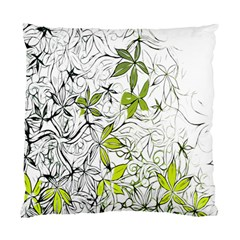 Floral Pattern Background Standard Cushion Case (One Side)