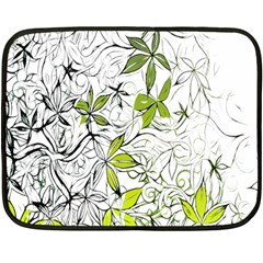 Floral Pattern Background Fleece Blanket (Mini)