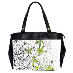 Floral Pattern Background Office Handbags (2 Sides)