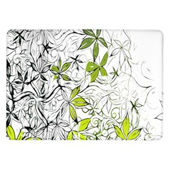 Floral Pattern Background Samsung Galaxy Tab 10.1  P7500 Flip Case