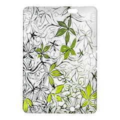 Floral Pattern Background Kindle Fire HDX 8.9  Hardshell Case