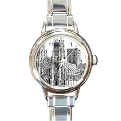 York Cathedral Vector Clipart Round Italian Charm Watch