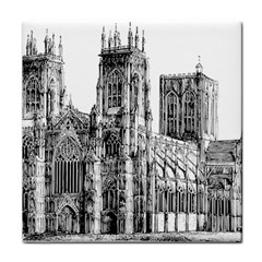 York Cathedral Vector Clipart Tile Coasters