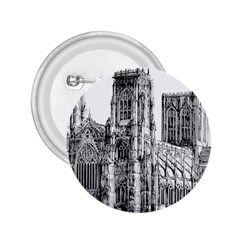 York Cathedral Vector Clipart 2.25  Buttons