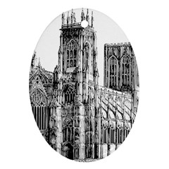 York Cathedral Vector Clipart Ornament (Oval)