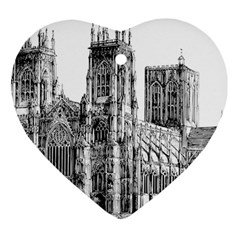 York Cathedral Vector Clipart Ornament (Heart)