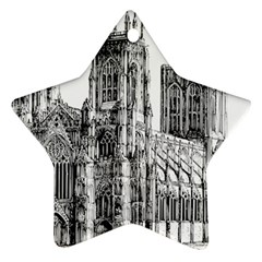 York Cathedral Vector Clipart Ornament (Star)
