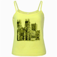 York Cathedral Vector Clipart Yellow Spaghetti Tank