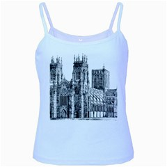 York Cathedral Vector Clipart Baby Blue Spaghetti Tank