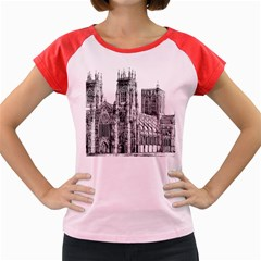 York Cathedral Vector Clipart Women s Cap Sleeve T-Shirt