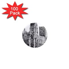 York Cathedral Vector Clipart 1  Mini Magnets (100 pack)