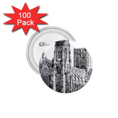 York Cathedral Vector Clipart 1.75  Buttons (100 pack)