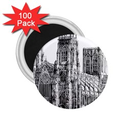 York Cathedral Vector Clipart 2.25  Magnets (100 pack)