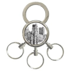 York Cathedral Vector Clipart 3-Ring Key Chains