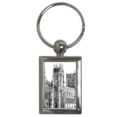 York Cathedral Vector Clipart Key Chains (Rectangle)