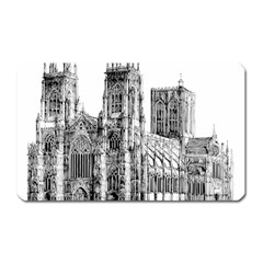 York Cathedral Vector Clipart Magnet (Rectangular)