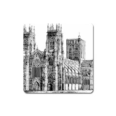 York Cathedral Vector Clipart Square Magnet