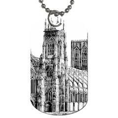 York Cathedral Vector Clipart Dog Tag (One Side)