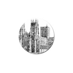 York Cathedral Vector Clipart Golf Ball Marker (10 pack)