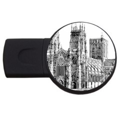 York Cathedral Vector Clipart USB Flash Drive Round (2 GB)