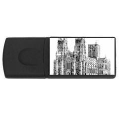 York Cathedral Vector Clipart USB Flash Drive Rectangular (2 GB)