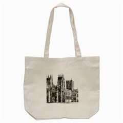 York Cathedral Vector Clipart Tote Bag (Cream)