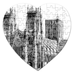 York Cathedral Vector Clipart Jigsaw Puzzle (Heart)