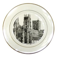 York Cathedral Vector Clipart Porcelain Plates