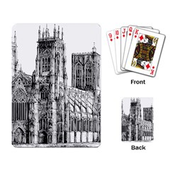 York Cathedral Vector Clipart Playing Card