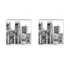 York Cathedral Vector Clipart Cufflinks (Square)