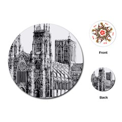 York Cathedral Vector Clipart Playing Cards (Round)
