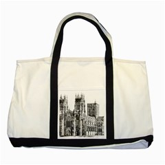 York Cathedral Vector Clipart Two Tone Tote Bag