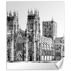York Cathedral Vector Clipart Canvas 8  x 10