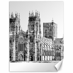 York Cathedral Vector Clipart Canvas 12  x 16