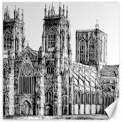 York Cathedral Vector Clipart Canvas 16  x 16