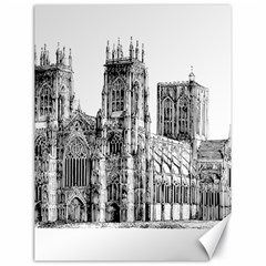 York Cathedral Vector Clipart Canvas 18  x 24