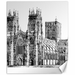York Cathedral Vector Clipart Canvas 20  x 24