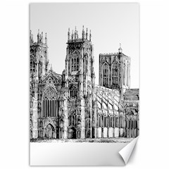 York Cathedral Vector Clipart Canvas 24  x 36