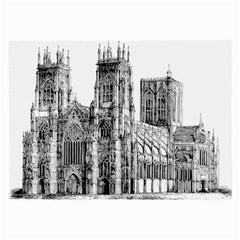 York Cathedral Vector Clipart Large Glasses Cloth